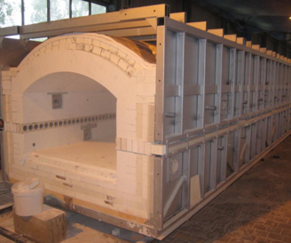 Fabrication d'un four à rouleaux gaz 1550°C