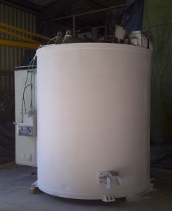 Electric cell kiln cylindrical bell