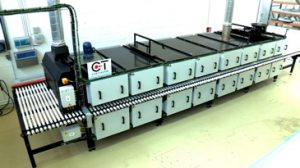 Electric tunnel kiln on rollers