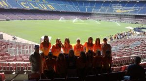 Team photo -womens-junior- at the Nou Camp
